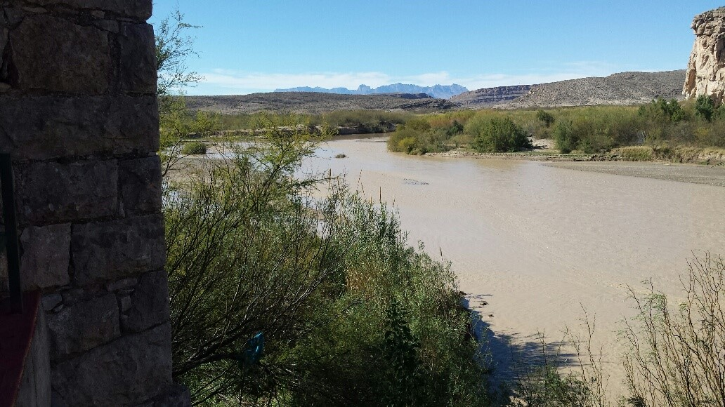 The Rio Grande River from Boquillas del Carmen, Mexico