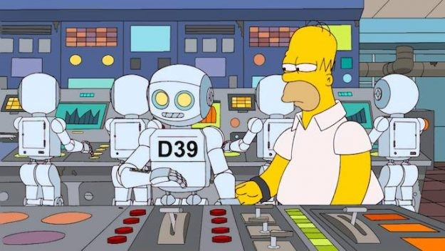 robots in the Simpsons