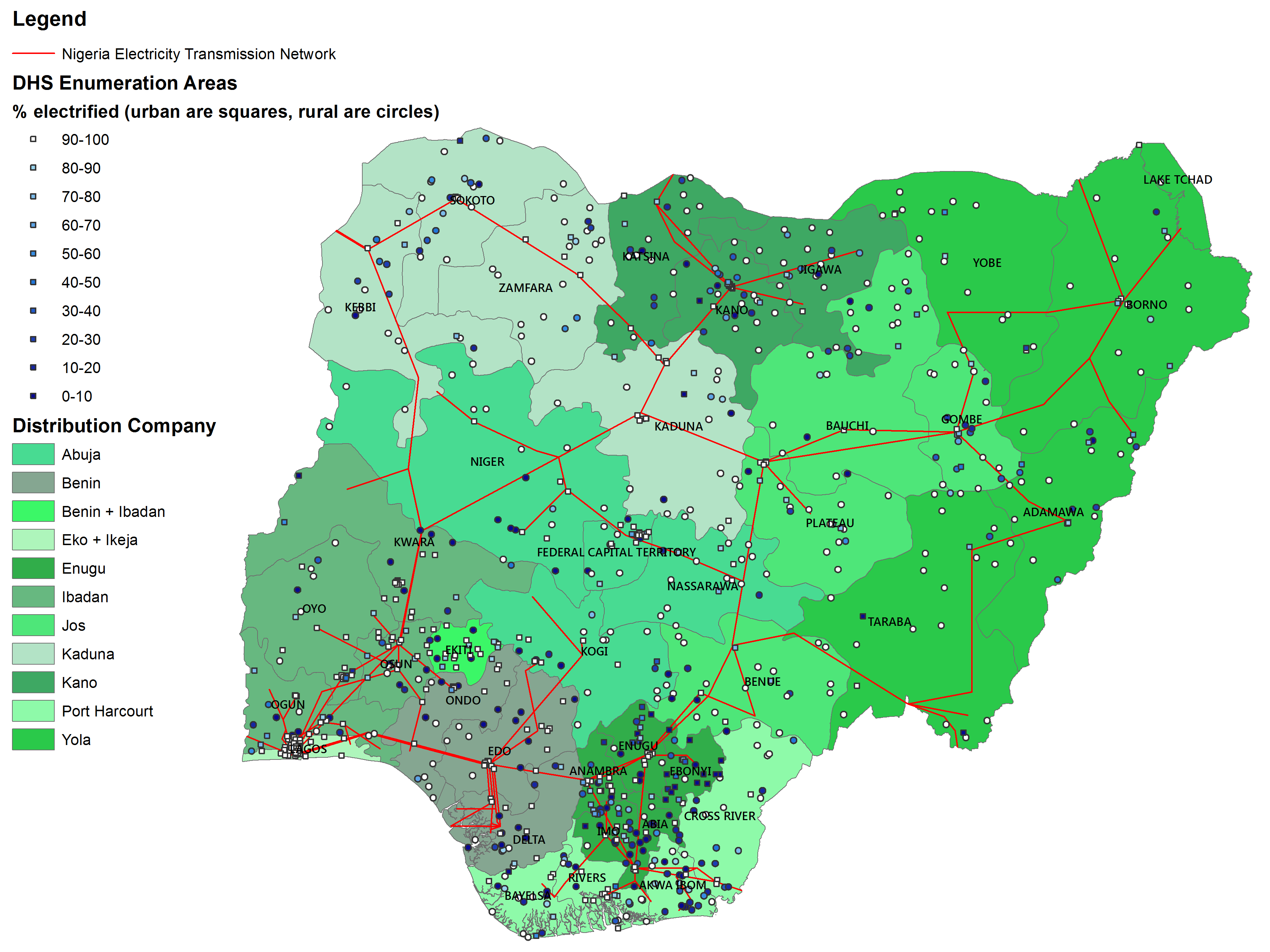 Living Under The Grid In Nigeria New Estimates Center For - Map of wealth distribution in the us