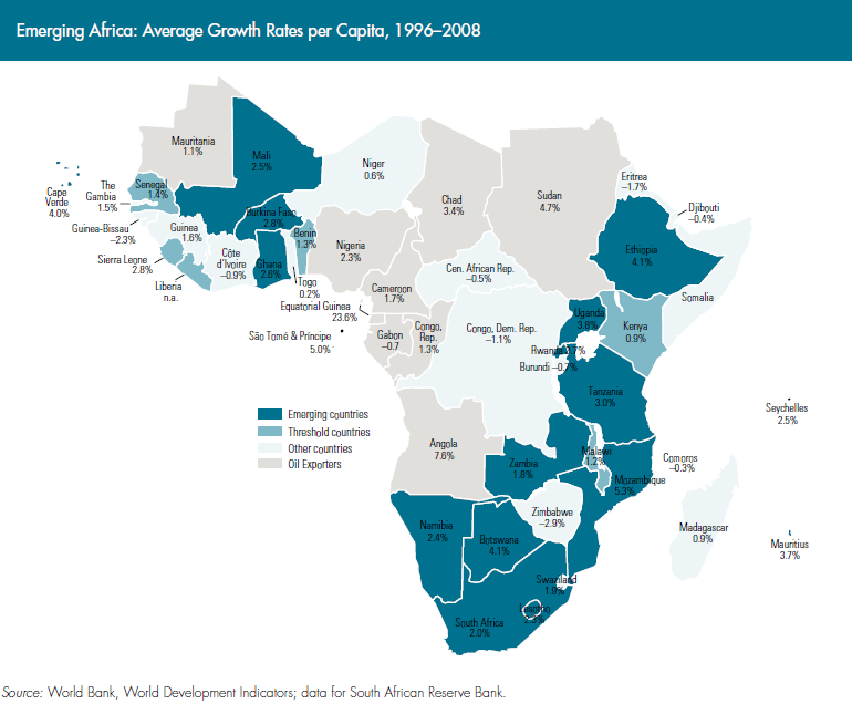 Emerging africa how 17 countries are leading the way map of africa gumiabroncs Image collections
