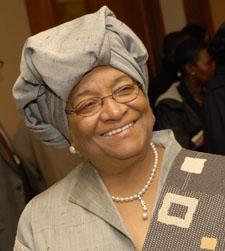 The President of Liberia, Ellen Johnson Sirleaf