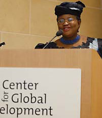 Ngozi Okonjo-Iweala speaking at CGD
