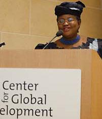 Ngozi Okonjo-Iweala speaking at CGD