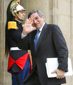 World Bank President Paul Wolfowitz in France
