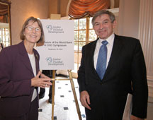 CGD President Nancy Birdsall and World Bank President Paul Wolfowitz