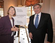 CGD President Nancy Birdsall and World Bank President Paul Wolfowitz
