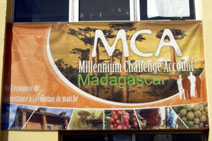 MCA sign, Madagascar