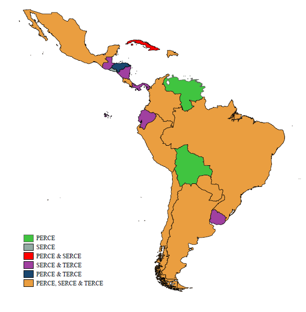 Chart showing ERCE coverage across Latin America
