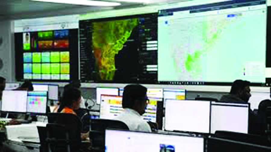 The real-time governance center in Andhra Pradesh.
