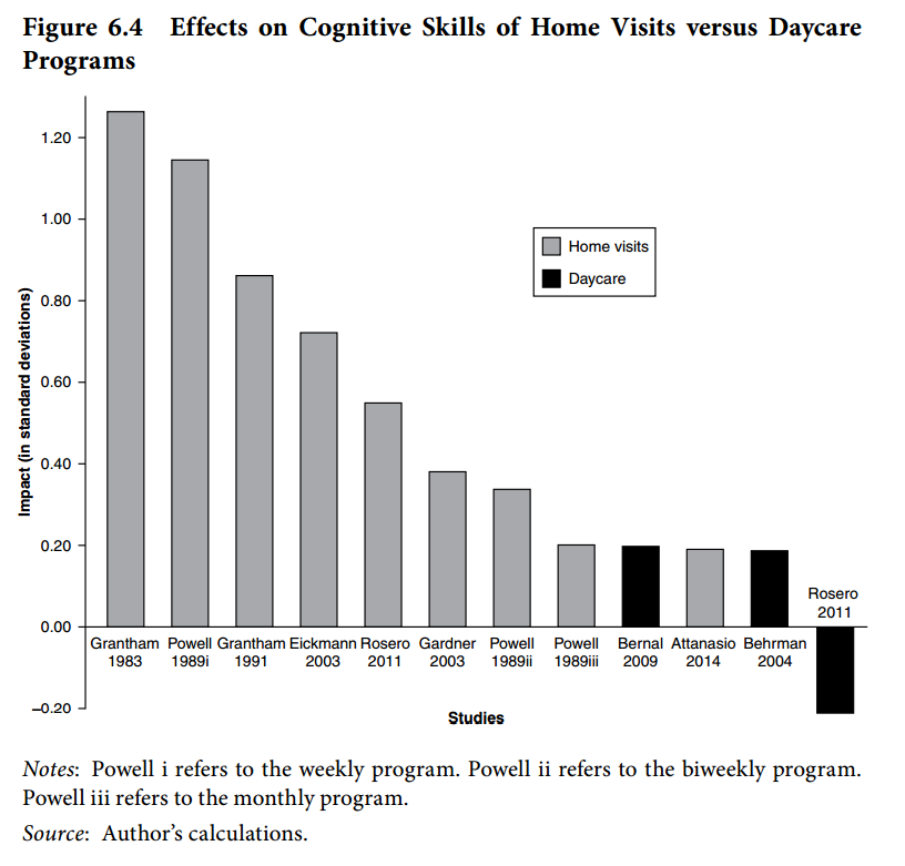 Home visits vs. Day care programs