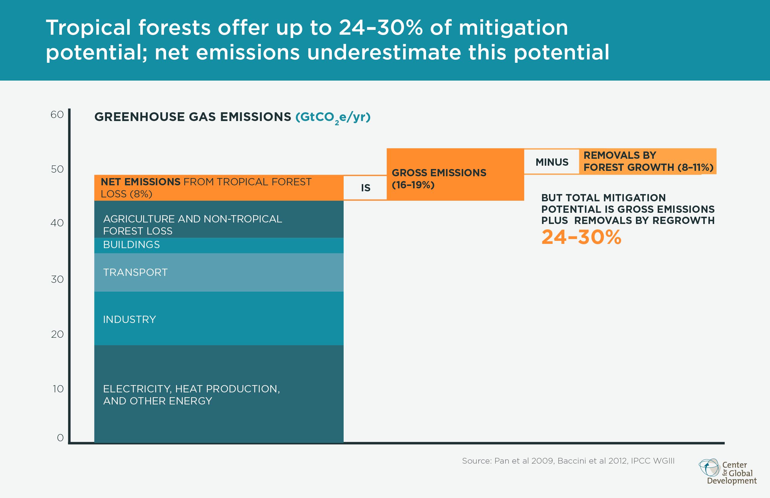 Tropical forest mitigation potential