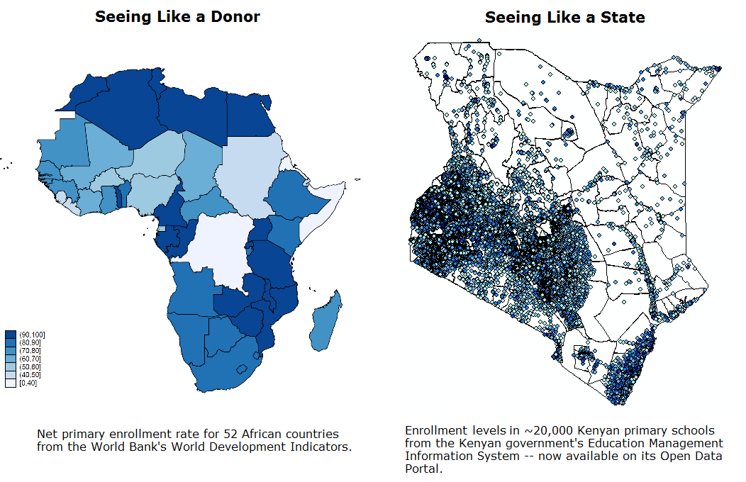 Seeing like a state in africa data needed center for global but the map on the left is pretty useless for kenyan policymakers why should they care how they compare to egypt they need to know which schools need new gumiabroncs Gallery