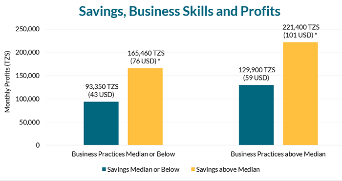 Business skills complement savings in predicting profits