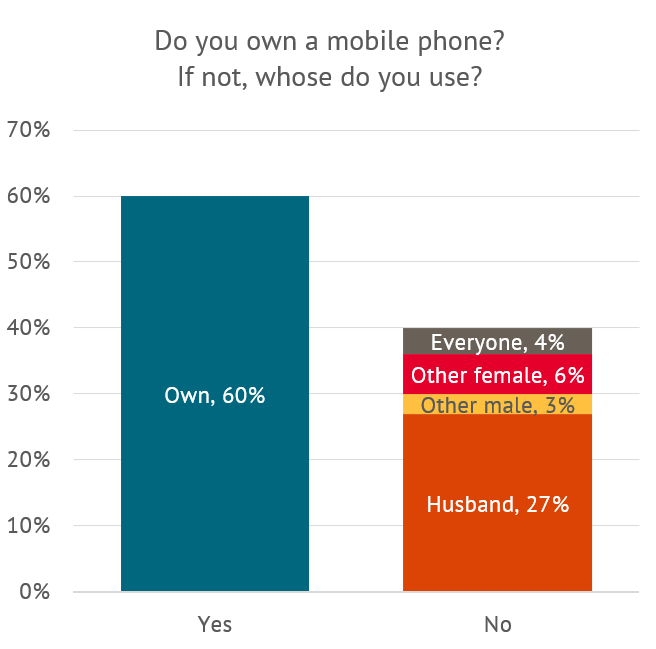 Do you own a mobile phone, and if not whose phone do you use?