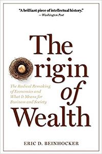 book cover: Origins of Wealth