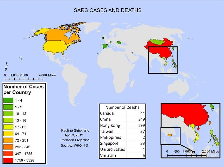 SARS distribution
