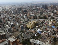 Aerial view of Bogota. Photo by Dominic Chavez