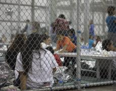 Photo of migrant children detained at a CBP detention center in Mcallen Texas
