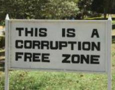 Corruption Free Zone sign