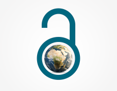 A graphic of an open lock surrounding the earth