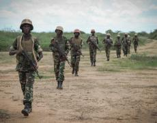 Burundian soldiers deployed with AMISOM on patrol. Photo from AMISOM Public Information, via Flickr