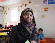 A Syrian schoolteacher, now working in Jordan. Photo by Russell Watkins/DFID