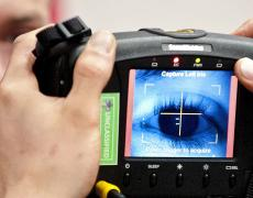 An iris scan for use with a biometric identification system