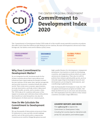 A cover image of the CDI 2020 brief