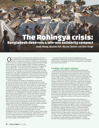 Cover of PDF version of The Rohingya Crisis: Bangladesh Deserves a Win-Win Solidarity Compact