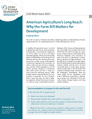 American Agriculture's Long Reach Brief Cover