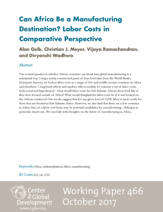 Cover of Working Paper 466