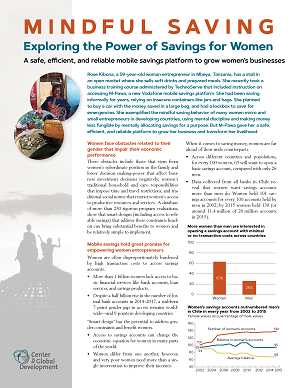 """Cover of """"Mindful Saving: Exploring the Power of Savings for Women"""""""