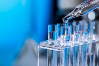 Stock photo of test tubes and a pipette