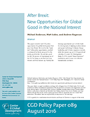 After Brexit: New Opportunities for Global Good in the National Interest