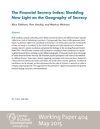 The Financial Secrecy Index: Shedding New Light on the Geography of Secrecy