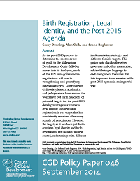 Birth Registration, Legal Identity, and the Post-2015 Agenda
