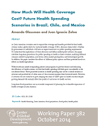 How Much Will Health Coverage Cost? Future Health Spending Scenarios in Brazil, Chile, and Mexico