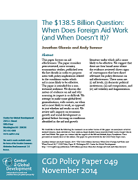 The $138.5 Billion Question: When Does Foreign Aid Work (and When Doesn't It)?