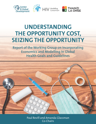 Cover of the Report of the Working Group on Incorporating Economics and Modelling in Global Health Goals and Guidelines