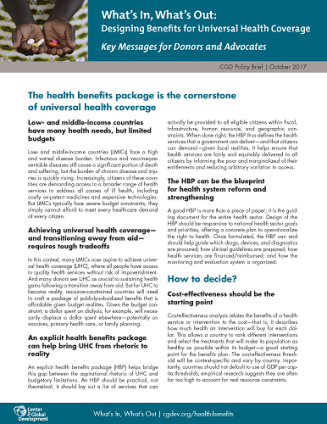 Cover of What's In What's Out factsheet