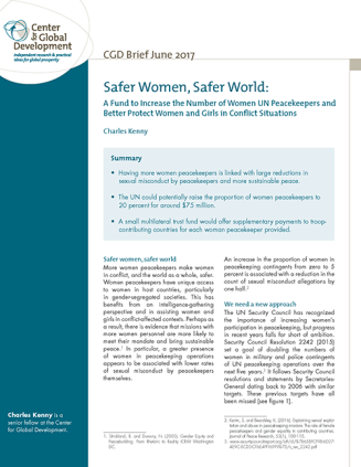 Women Peacekeepers brief cover