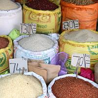 rice prices in a market