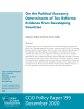 A cover image for a paper on the political economy of taxation