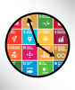 Clock with SDGs in background
