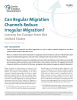 """cover of Policy Brief: """"Can Regular Migration Channels Reduce Irregular Migration?"""""""
