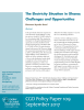 Cover of Policy Paper 108: The Electricity Situation in Ghana: Challenges and Opportunities