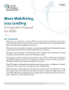 "Cover of brief ""More Mobilizing, Less Lending: A Pragmatic Proposal for MDBs"""