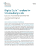 Cover of Digital Cash Transfers for Stranded Migrants: Lessons from Bihar's COVID-19 Assistance Program