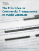 Cover of the report The Principles on Commercial Transparency in Public Contracts