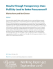 Results Through Transparency: Does Publicity Lead to Better Procurement?